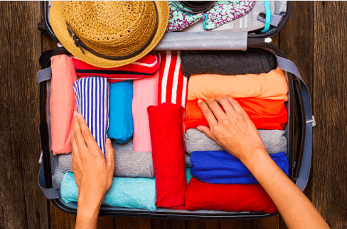 Ho to fold your clothes for travel